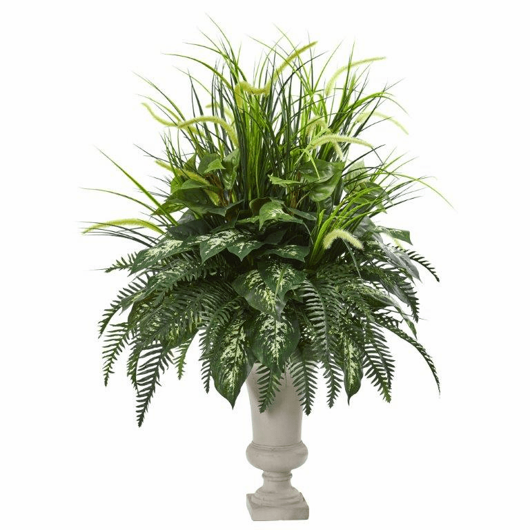 42� Mixed Greens Artificial Plant Arrangement in Urn