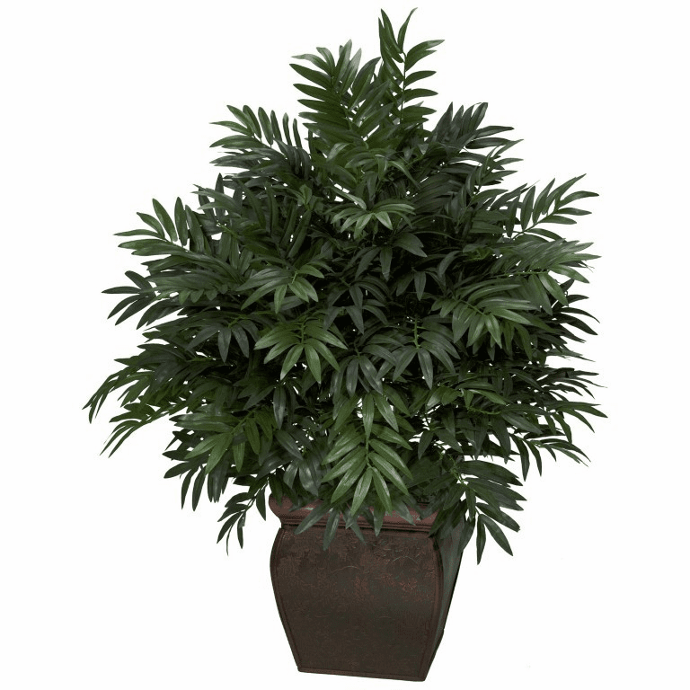 """43"""" Triple Bamboo Palm with Decorative Planter Silk Plant"""
