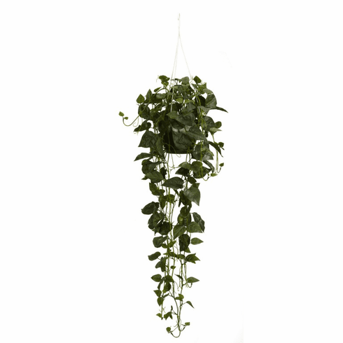 """44"""" Philodendron Hanging Basket Silk Plant"""