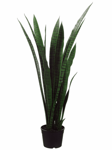 "44"" Sansevieria Artificial Plants in Plastic Pot"
