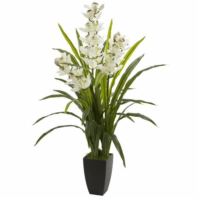 45� Cymbidium Orchid Artificial Plant