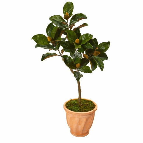 "45"" Magnolia Leaf Artificial Tree in Terra-cotta Planter -"