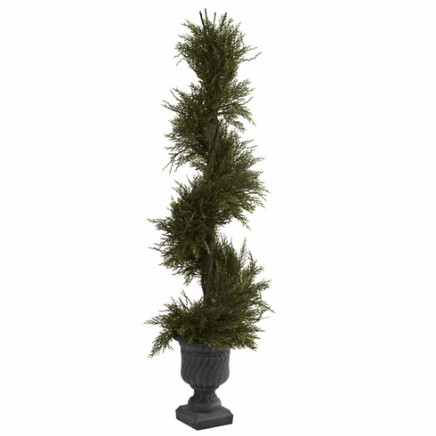 "45"" Mini Pine Spiral w/Urn (Indoor/Outdoor)"