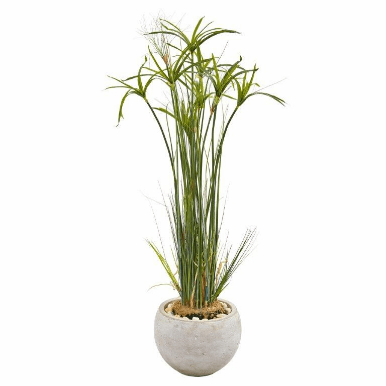 45� Papyrus Artificial Plant in Sand Colored Planter -