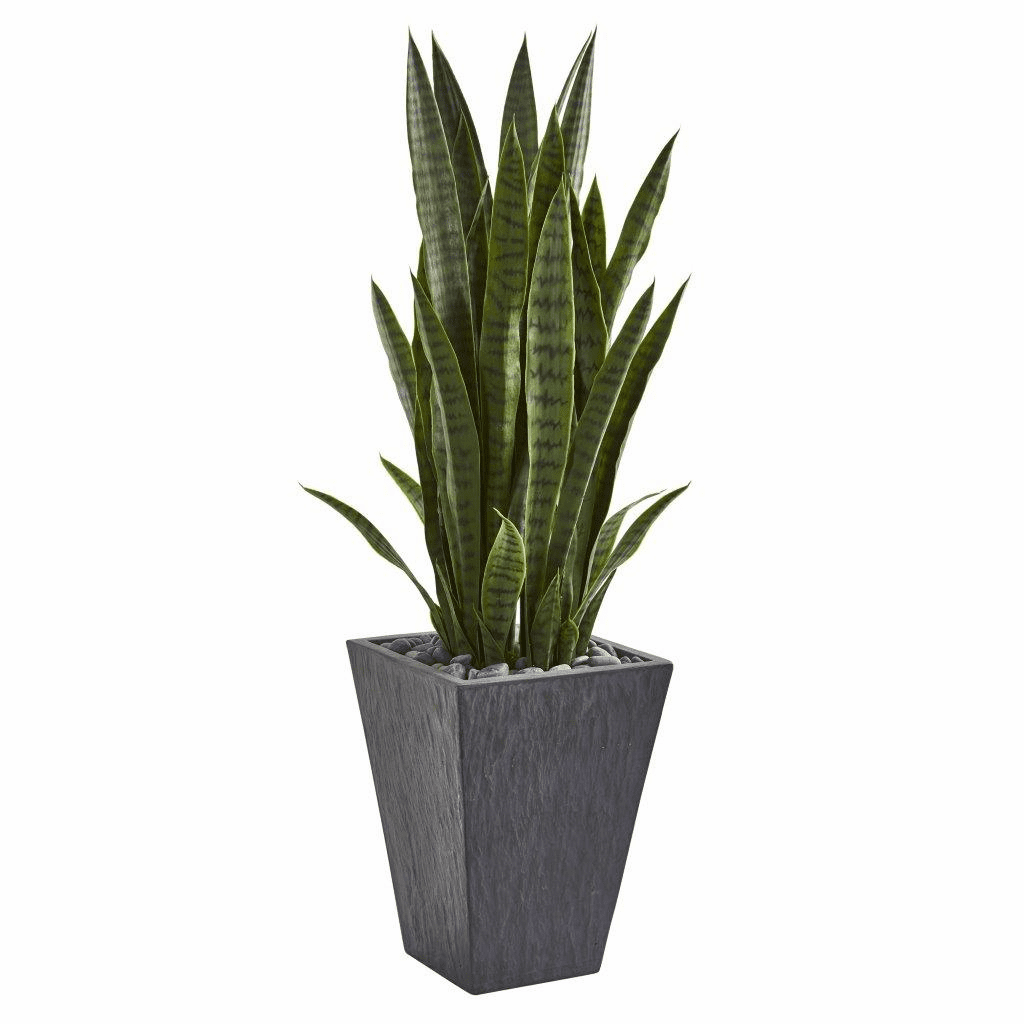 45� Sansevieria Artificial Plant in Sate Planter