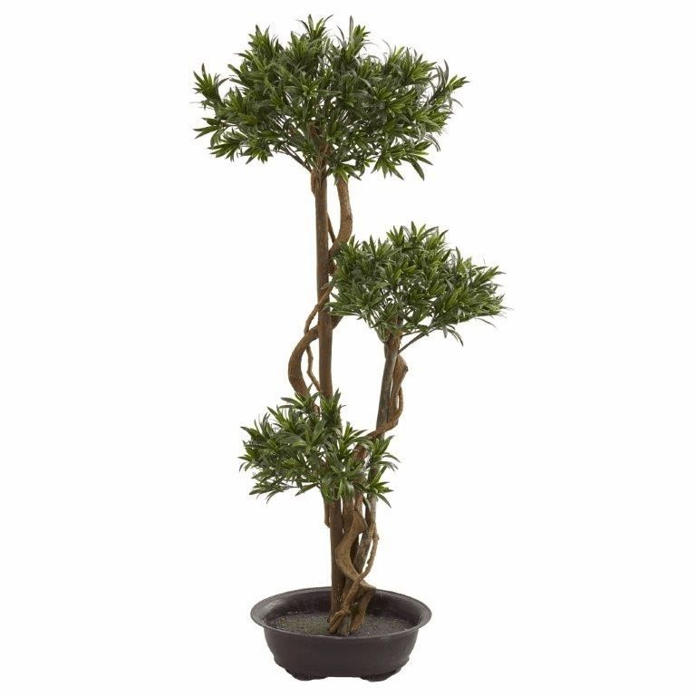 46� Bonsai Styled Podocarpus Artificial Tree