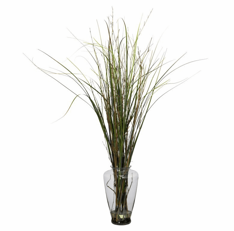 """46"""" Grass & Bamboo with Large Jar Artificial Plant"""