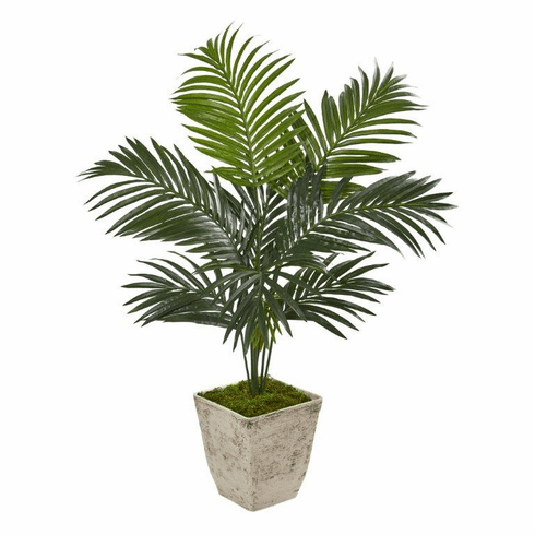 """46"""" Kentia Artificial Palm Tree in Country White Planter -"""
