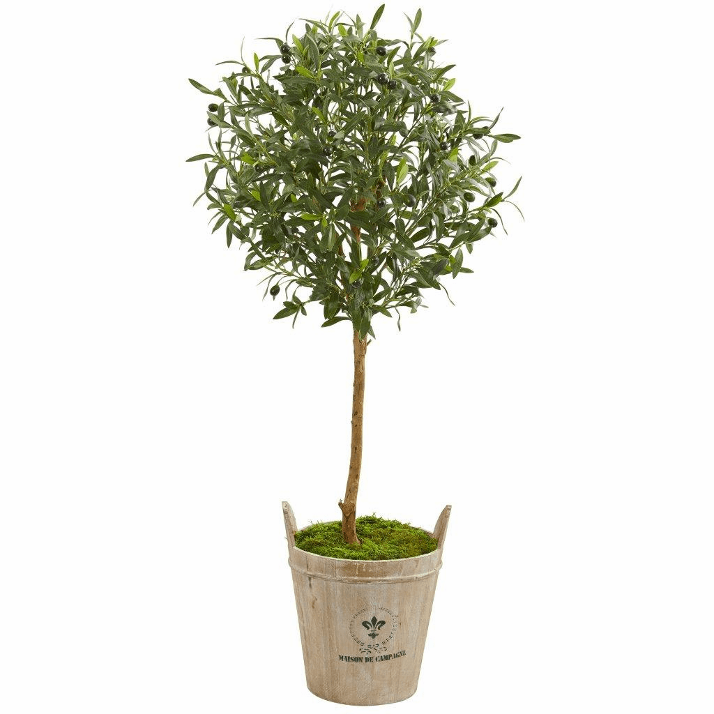 46� Olive Artificial Tree in Farm House Planter
