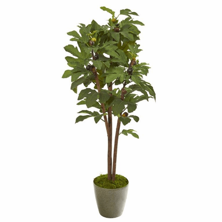47� Fig Artificial Tree in Green Planter -