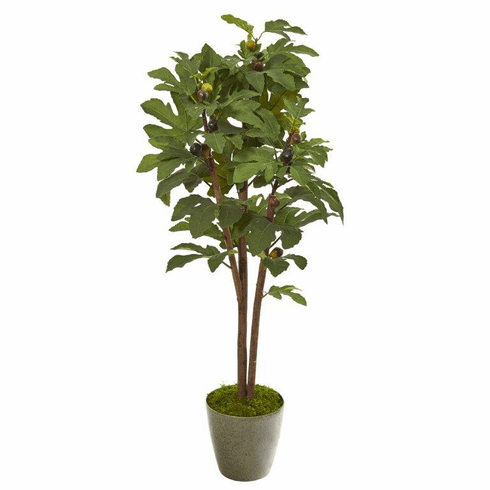 "47"" Fig Artificial Tree in Green Planter -"