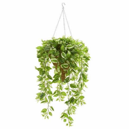 "48"" Wandering Jew Artificial Plant in Hanging Basket (Real Touch)"