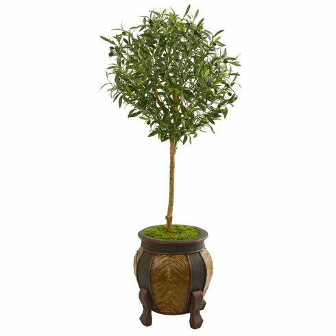 "49"" Olive Artificial Tree in Decorative Planter"