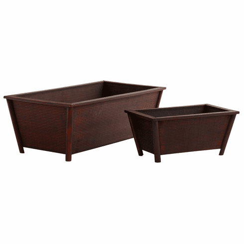 "5.5"" - 7"" Rectangle Planters (Set of 2)"