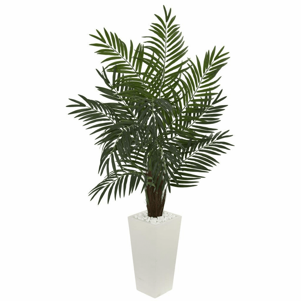 5.5� Areca Artificial Palm Tree in White Tower Planter