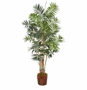 5.5� Bamboo Artificial Palm Tree in Decorative Wood Planter -