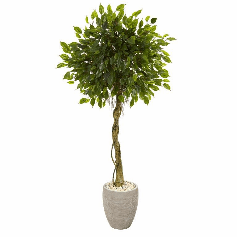 5.5� Ficus Artificial Tree in Oval Planter UV Resistant (Indoor/Outdoor)