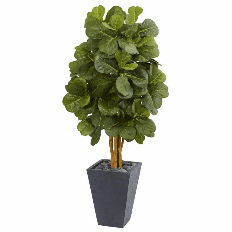 5.5� Fiddle Leaf Artificial Tree in Slate Planter
