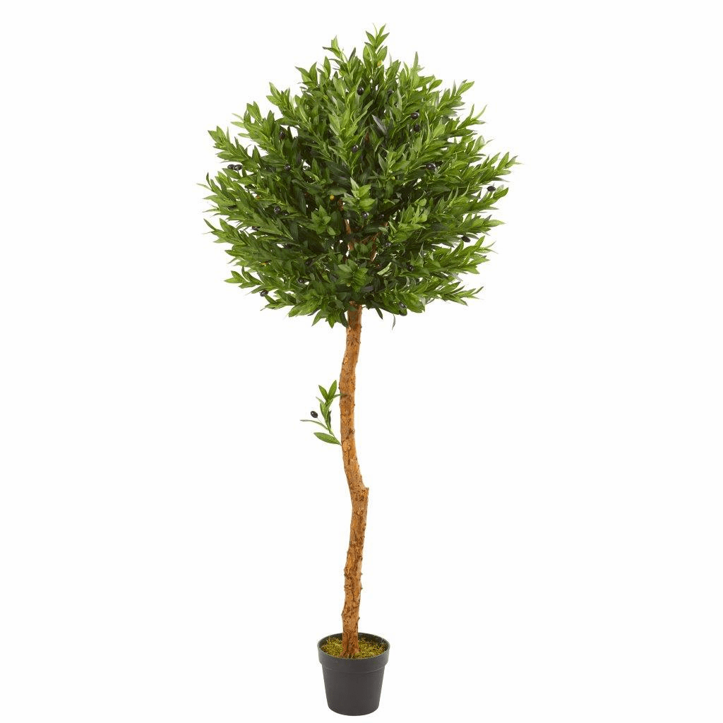 5.5� Olive Topiary Artificial Tree UV Resistant (Indoor/Outdoor)