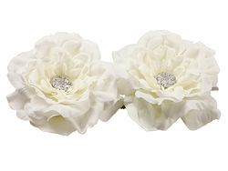 """5.5"""" Silk Floating Peony Head Flowerwith Rhinestone (2 ea. in acetate Box) - 6 Boxes"""