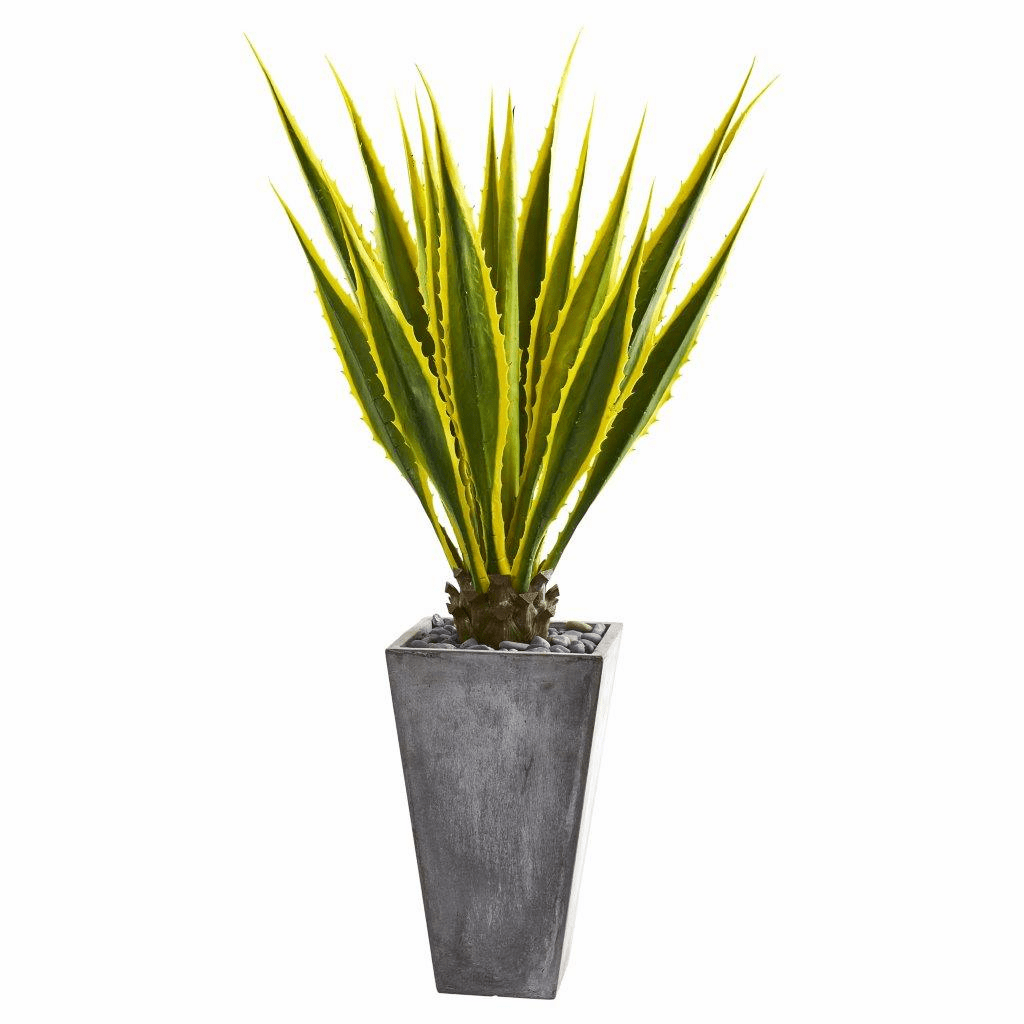 5� Agave Artificial Plant in Gray Planter