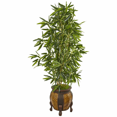 5' Bamboo Artificial Tree in Decorative Planter (Real Touch)
