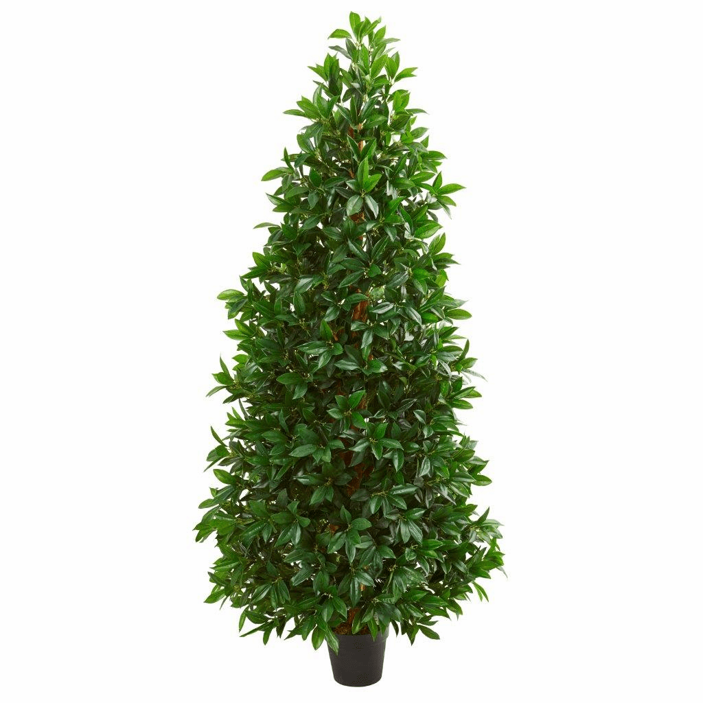 5� Bay Leaf Cone Topiary Artificial Tree UV Resistant (Indoor/Outdoor)
