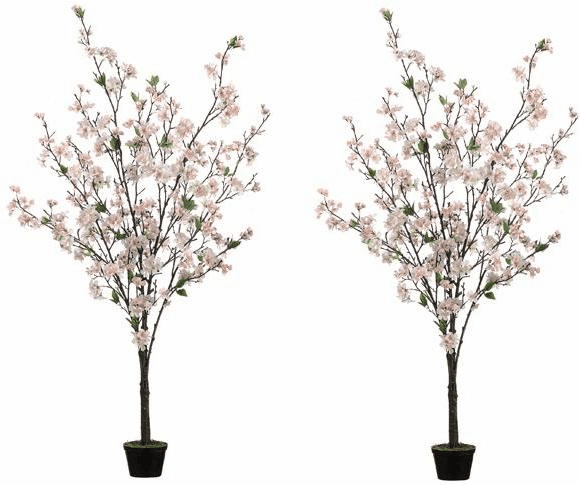 5' Cherry Blossom Artificial Tree (Set of 2)