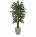 5� Parlor Artificial Palm Tree in Decorative  Planter -