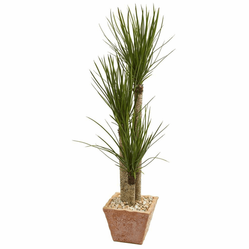 5' Yucca Artificial Tree in Terra Cotta Planter