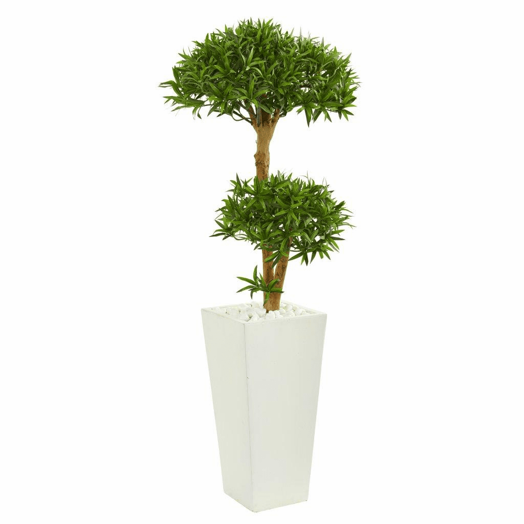 50� Bonsai Styled Podocarpus Artificial Tree in Tower Planter