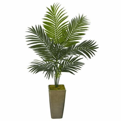"50"" Kentia Artificial Palm Tree in Green Planter -"