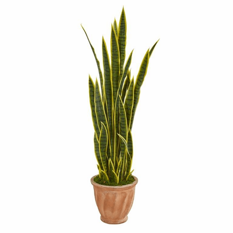 50� Sansevieria Artificial Plant in Terra Cotta Planter