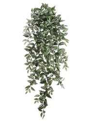 """51"""" Artificial Medium Wandering Jew Hanging Bush with 547 Leaves - Set of 6"""