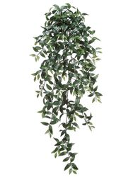 """51"""" Artificial Ruscus Hanging Bush with 547 Leaves - Set of 6"""