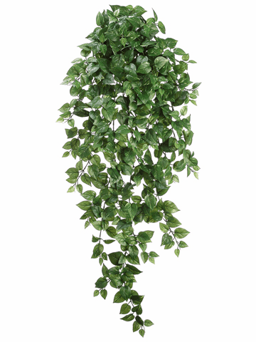 "51""  Medium Pothos Hanging Artificial Bush x 18 Vines with 547 Leaves - Set of 6 Bushes"
