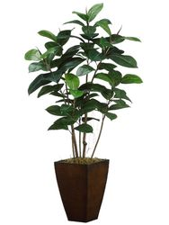 """52"""" Artficial  Rubber Plant Tree in Metal Container"""