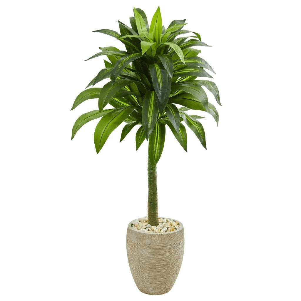 52� Dracaena Artificial Plant in Sand Colored Planter