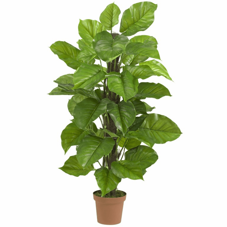 """52"""" Large Leaf Philodendron Silk Plant(Real Touch)"""