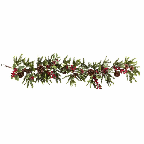 """54"""" Holly Berry Garland"""