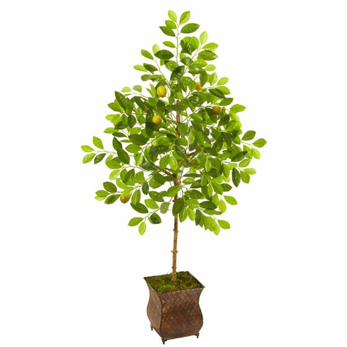 "54"" Lemon Artificial Tree in Decorative Planter -"