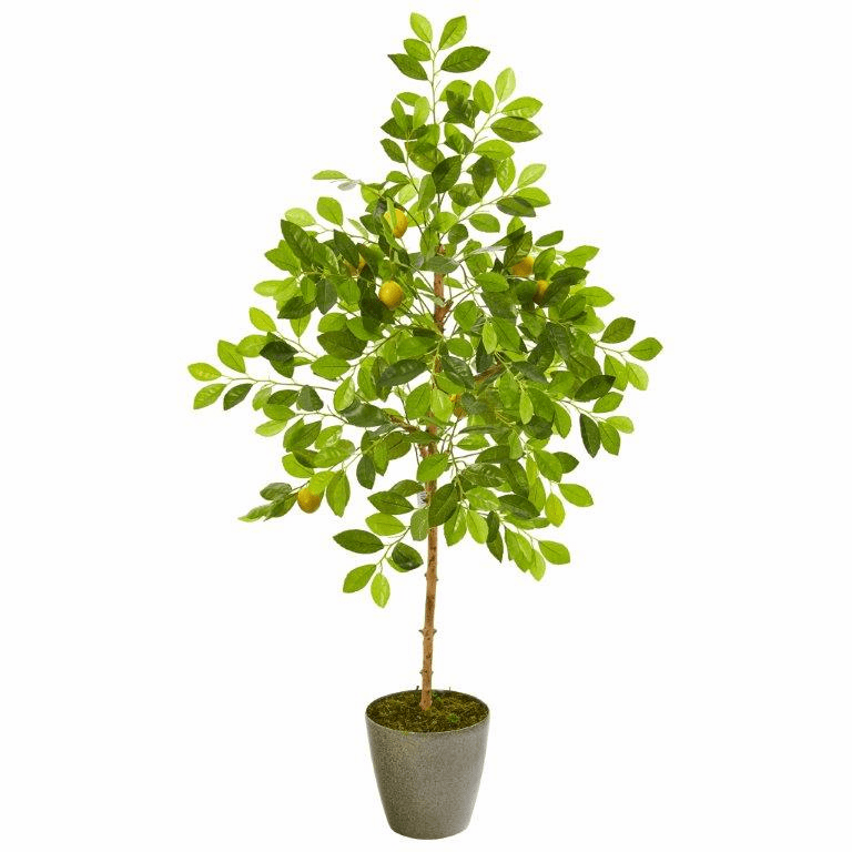 54� Lemon Artificial Tree in Olive Green Planter -