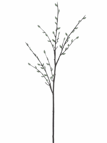 "55"" Artificial Pussy Willow Branch Spray - Set of 12"