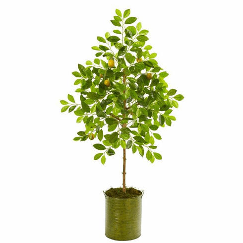 "55"" Lemon Artificial Tree in Green Planter -"