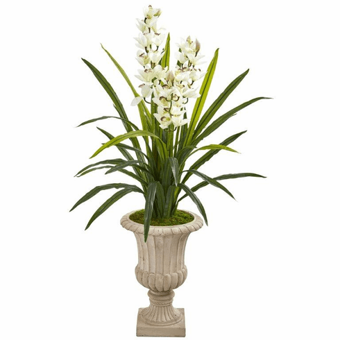 "56"" Cymbidium Orchid Artificial Plant in Urn"