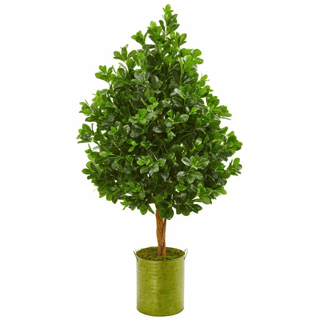 56� Evergreen Artificial Tree in Metal Planter