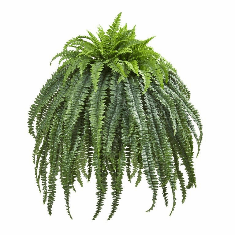 56� Giant Boston Fern Artificial Plant in Cement Bowl