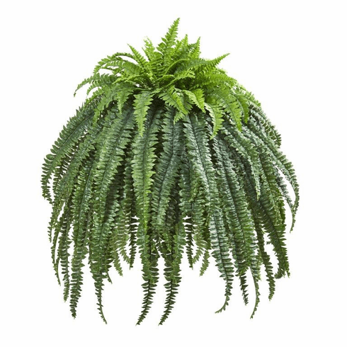 "56"" Giant Boston Fern Artificial Plant in Cement Bowl"