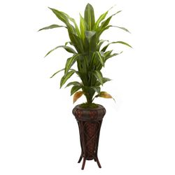 """57"""" Dracaena with Decorative Stand Silk Plant (Real Touch)"""
