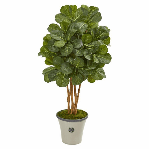 "57"" Fiddle Leaf Fig Artificial Tree in Decorative Planter -"